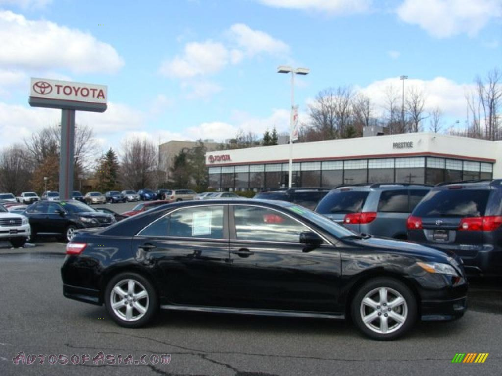 2008 toyota camry se in black 255910 autos of asia japanese and korean cars for sale in the us. Black Bedroom Furniture Sets. Home Design Ideas