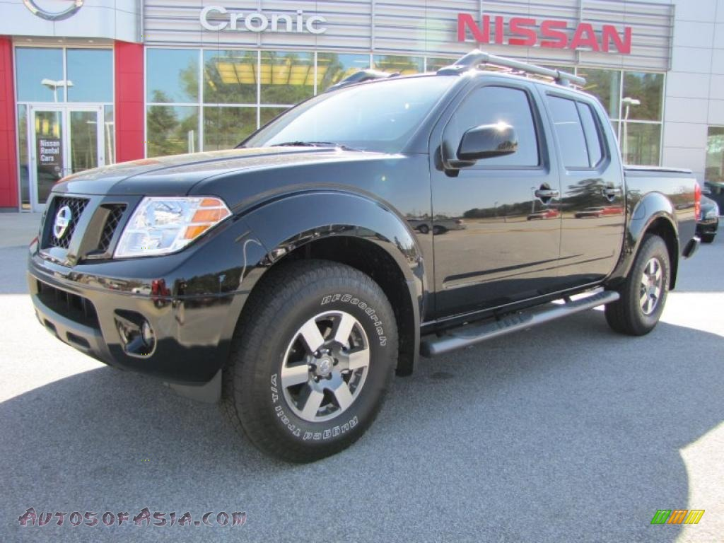2011 nissan frontier pro 4x crew cab 4x4 in super black 426755 autos of asia japanese and. Black Bedroom Furniture Sets. Home Design Ideas
