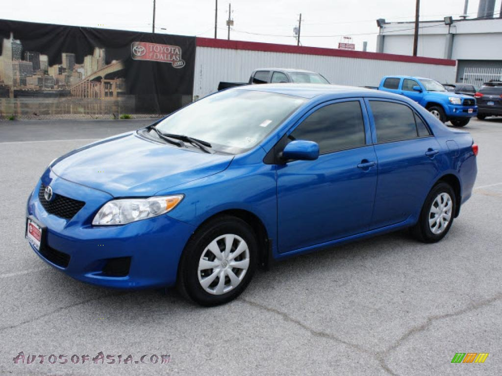 2009 toyota corolla le in blue streak metallic 058504