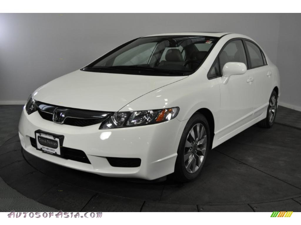2009 honda civic ex l sedan in taffeta white 008383 autos of asia japanese and korean cars. Black Bedroom Furniture Sets. Home Design Ideas