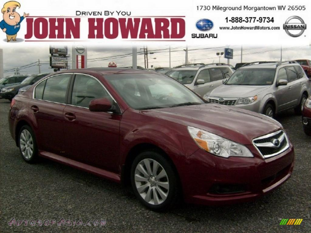 2011 Subaru Legacy Limited In Ruby Red Pearl 247693