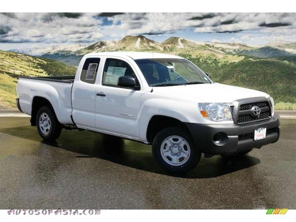 2011 toyota tacoma access cab in super white 008420 autos of asia japanese and korean cars. Black Bedroom Furniture Sets. Home Design Ideas