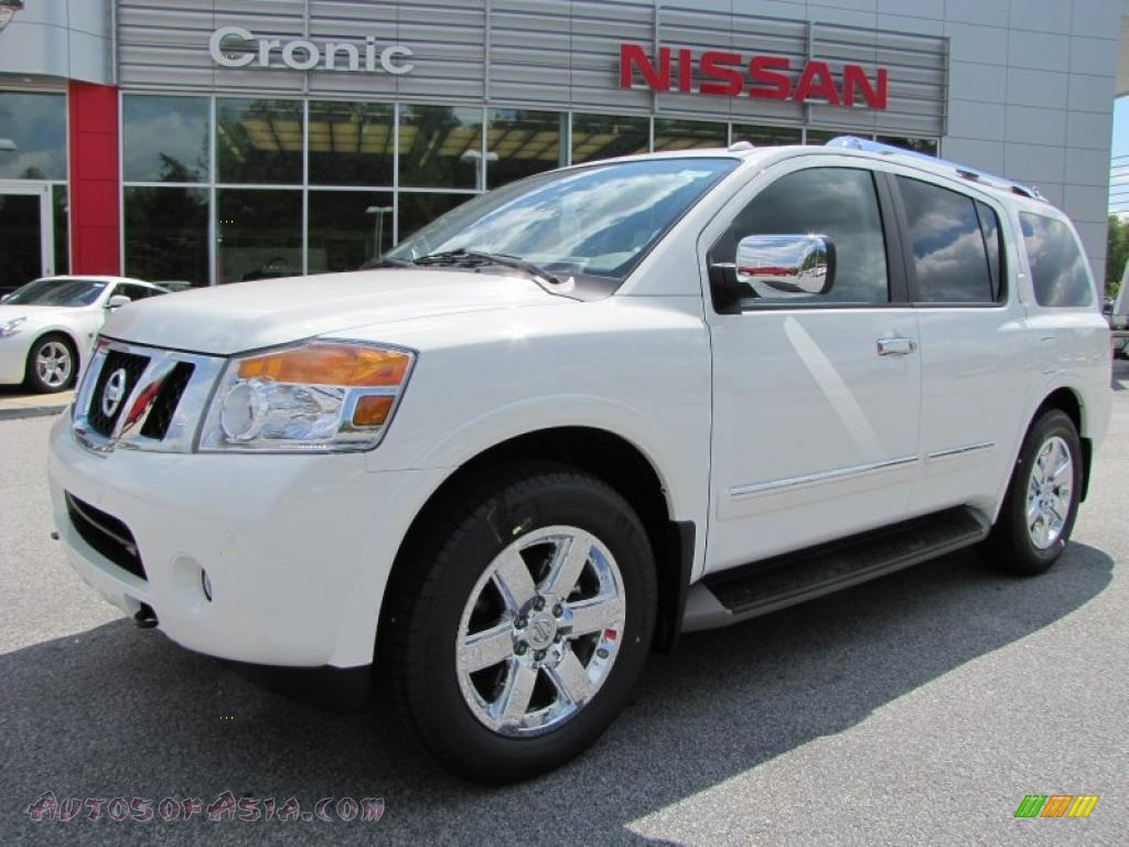 2011 nissan armada platinum in blizzard white 618463 autos of asia japanese and korean. Black Bedroom Furniture Sets. Home Design Ideas