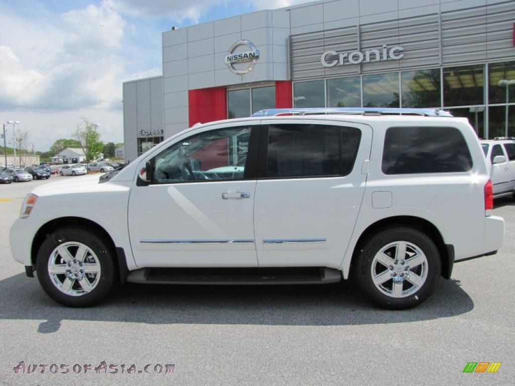 2011 nissan armada platinum in blizzard white photo 2 618463 autos of asia japanese and. Black Bedroom Furniture Sets. Home Design Ideas