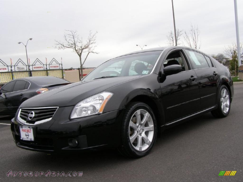 2008 nissan maxima 3 5 se in super black 814253 autos of asia japanese and korean cars for. Black Bedroom Furniture Sets. Home Design Ideas