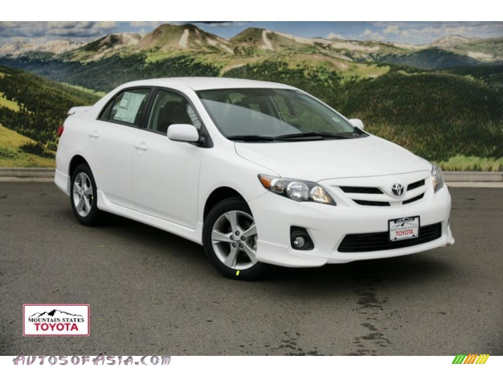 2011 toyota corolla s in super white 563950 autos of asia japanese and korean cars for. Black Bedroom Furniture Sets. Home Design Ideas
