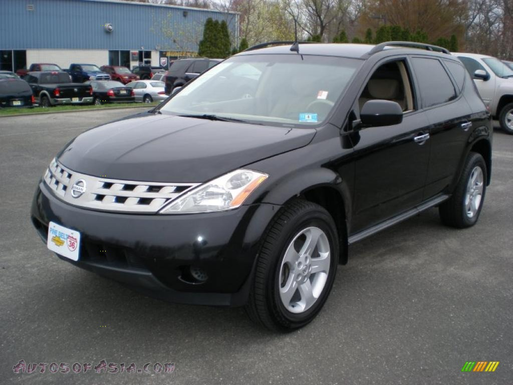 2005 nissan murano se awd in super black 436231 autos. Black Bedroom Furniture Sets. Home Design Ideas