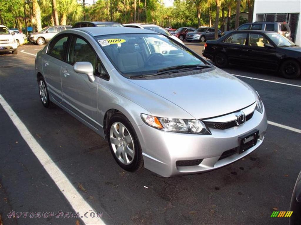 2009 honda civic lx sedan in alabaster silver metallic 308681 autos of asia japanese and. Black Bedroom Furniture Sets. Home Design Ideas