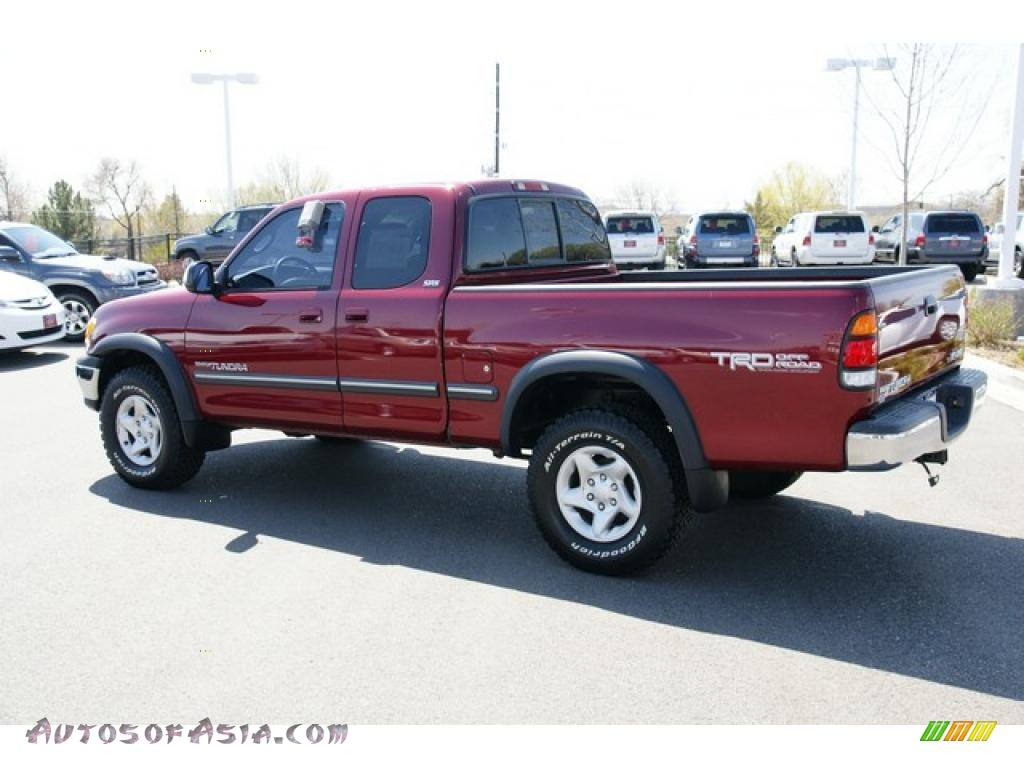 2002 toyota tundra sr5 access cab 4x4 in sunfire red pearl photo 4 228287 autos of asia. Black Bedroom Furniture Sets. Home Design Ideas