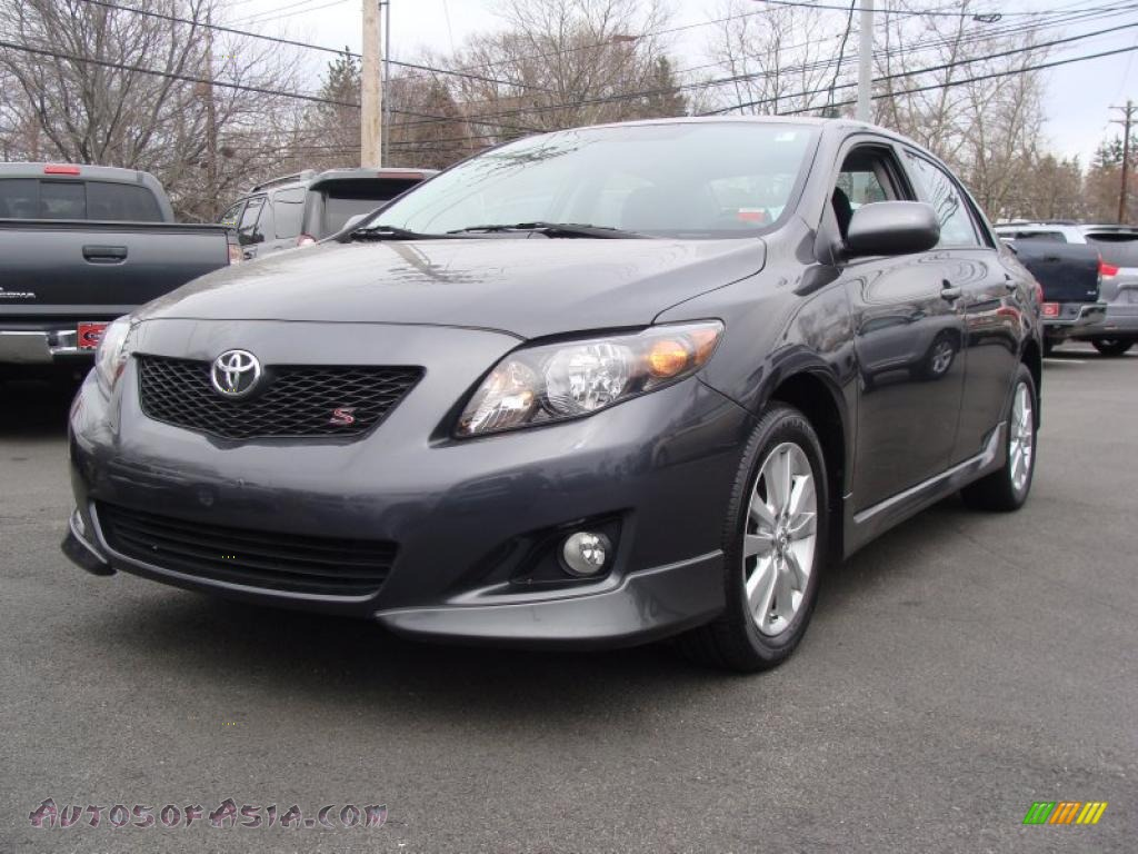 2009 toyota corolla s in magnetic gray metallic 118644 autos of asia japanese and korean. Black Bedroom Furniture Sets. Home Design Ideas