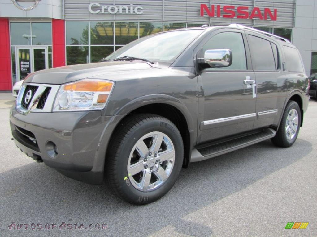 2011 nissan armada platinum in smoke gray 618955 autos of asia japanese and korean cars. Black Bedroom Furniture Sets. Home Design Ideas