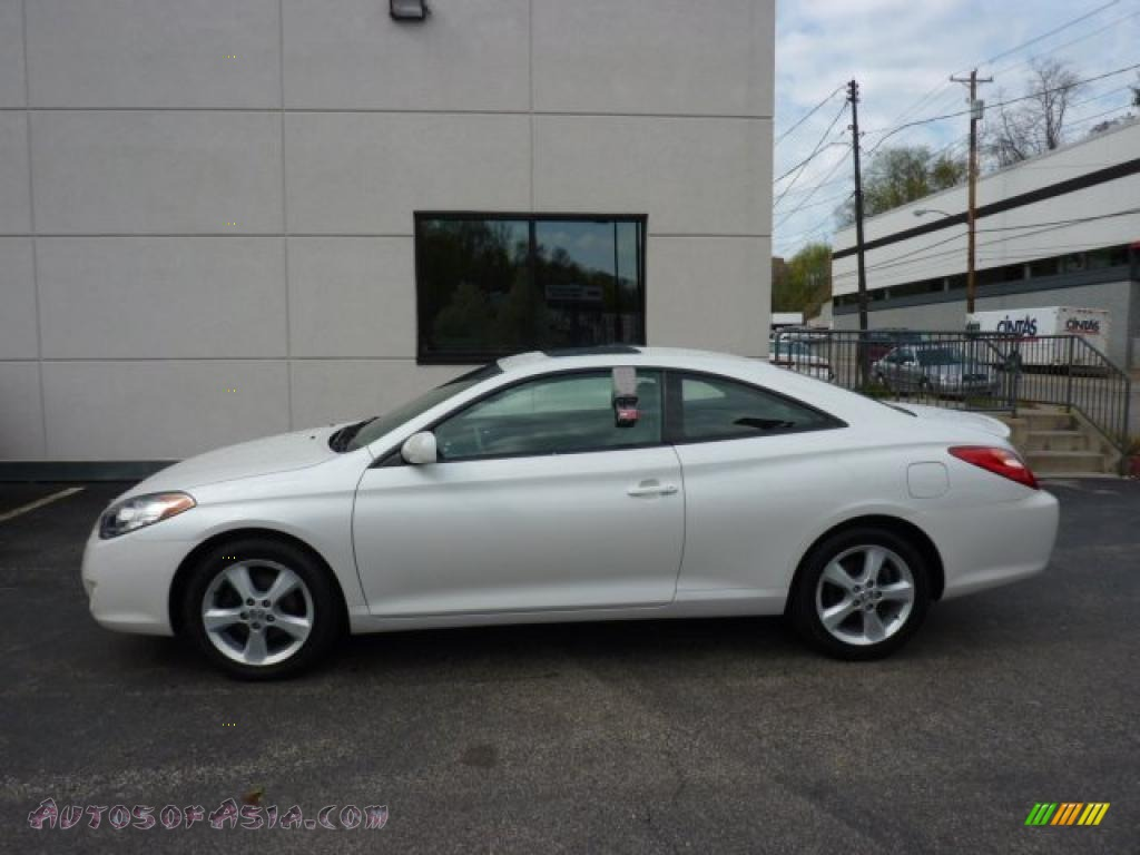 2005 toyota solara sle v6 coupe in arctic frost pearl. Black Bedroom Furniture Sets. Home Design Ideas