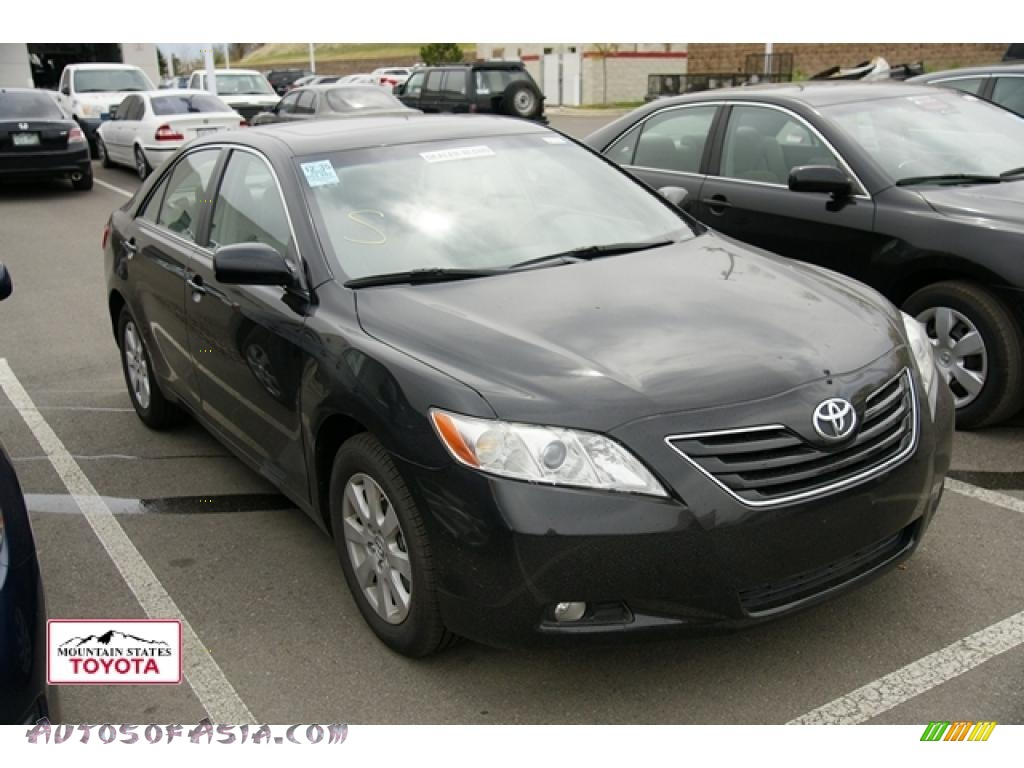 2008 toyota camry xle v6 in black 567586 autos of asia japanese and korean cars for sale. Black Bedroom Furniture Sets. Home Design Ideas