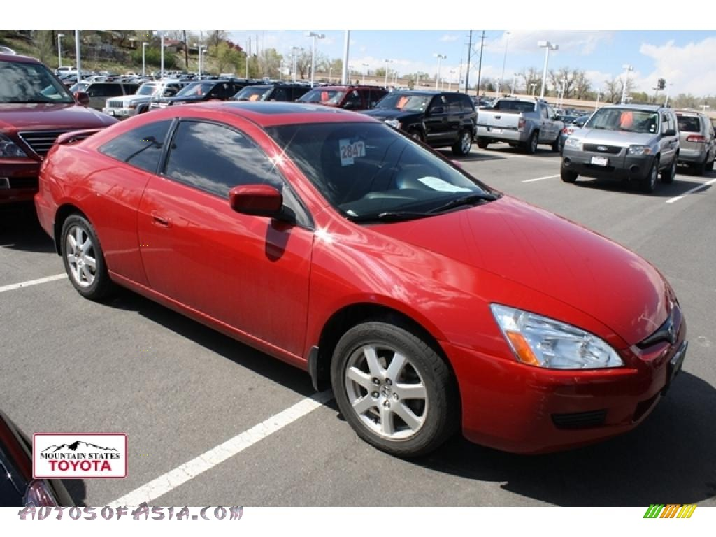 2005 honda accord ex v6 coupe in san marino red 012147. Black Bedroom Furniture Sets. Home Design Ideas