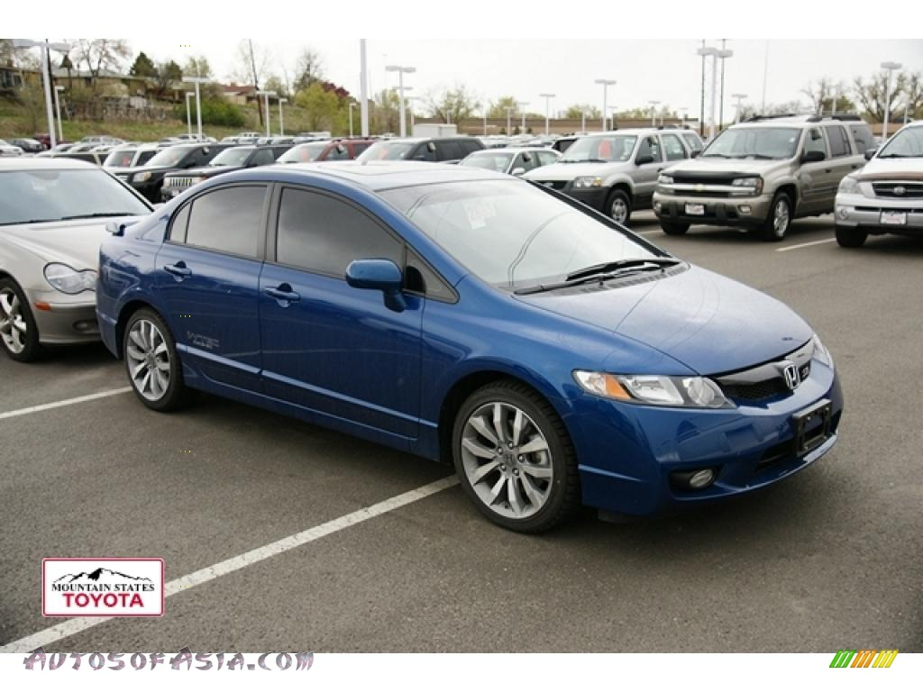 2011 Honda Civic Si Sedan In Dyno Blue Pearl 700400