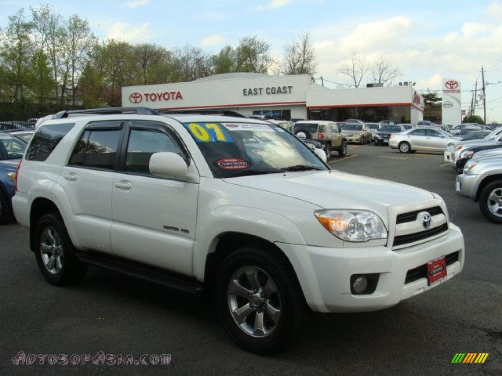 2007 toyota 4runner limited 4x4 in natural white 094960. Black Bedroom Furniture Sets. Home Design Ideas