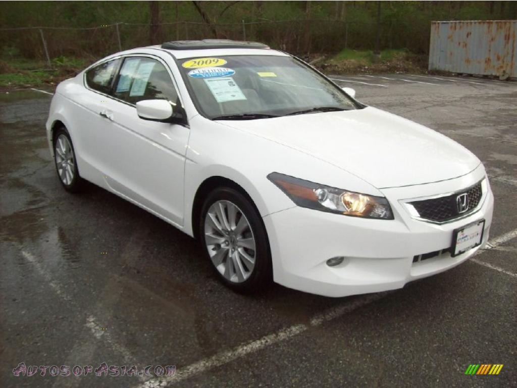 2009 Honda Accord Ex L V6 Coupe In Taffeta White 009560