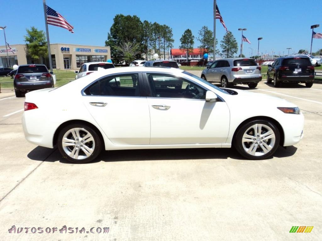 2011 acura tsx v6 sedan in premium white pearl photo 4 000161 autos of asia japanese and. Black Bedroom Furniture Sets. Home Design Ideas