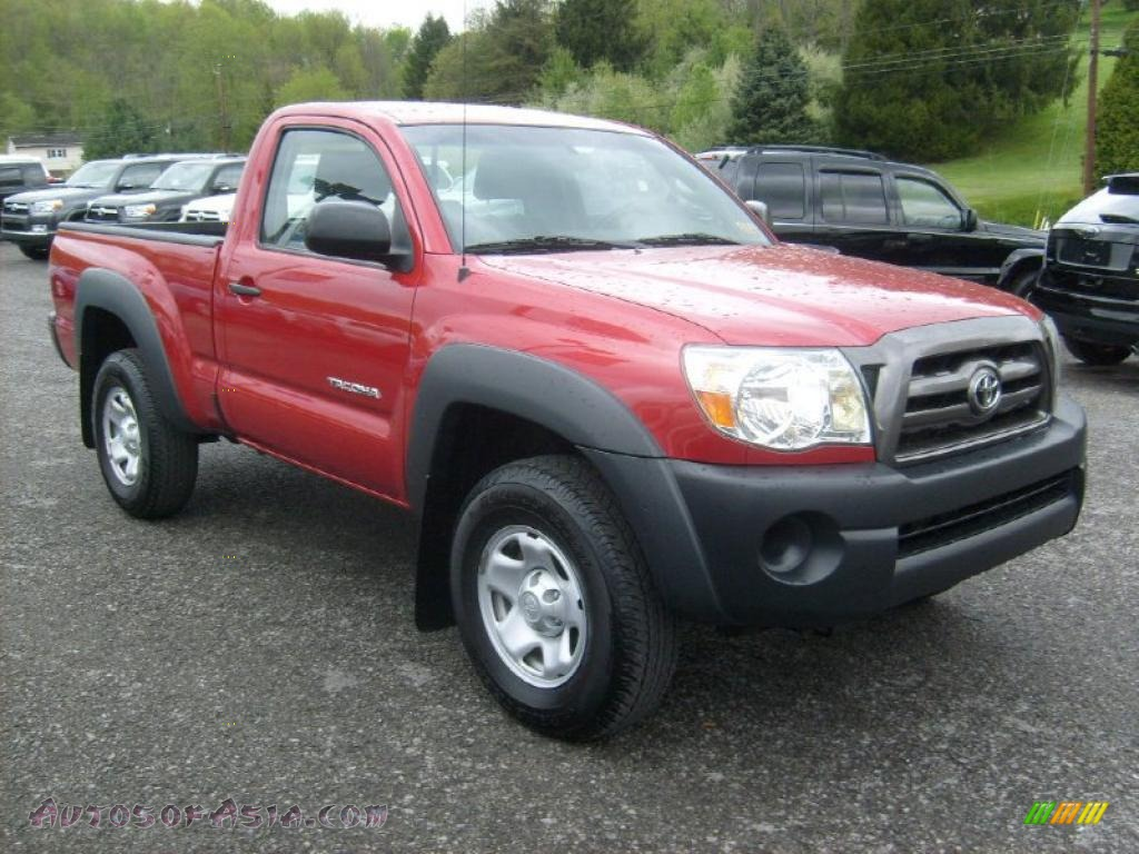 2009 toyota tacoma regular cab 4x4 in barcelona red metallic 633462 autos of asia japanese. Black Bedroom Furniture Sets. Home Design Ideas