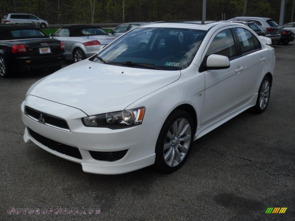 2008 mitsubishi lancer gts in wicked white 045249 autos of asia japanese and korean cars. Black Bedroom Furniture Sets. Home Design Ideas