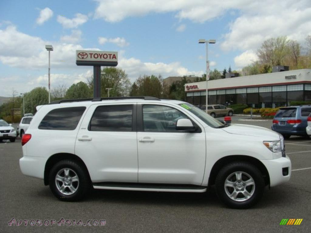 2008 toyota sequoia sr5 4wd in super white 005071 autos of asia japanese and korean cars. Black Bedroom Furniture Sets. Home Design Ideas
