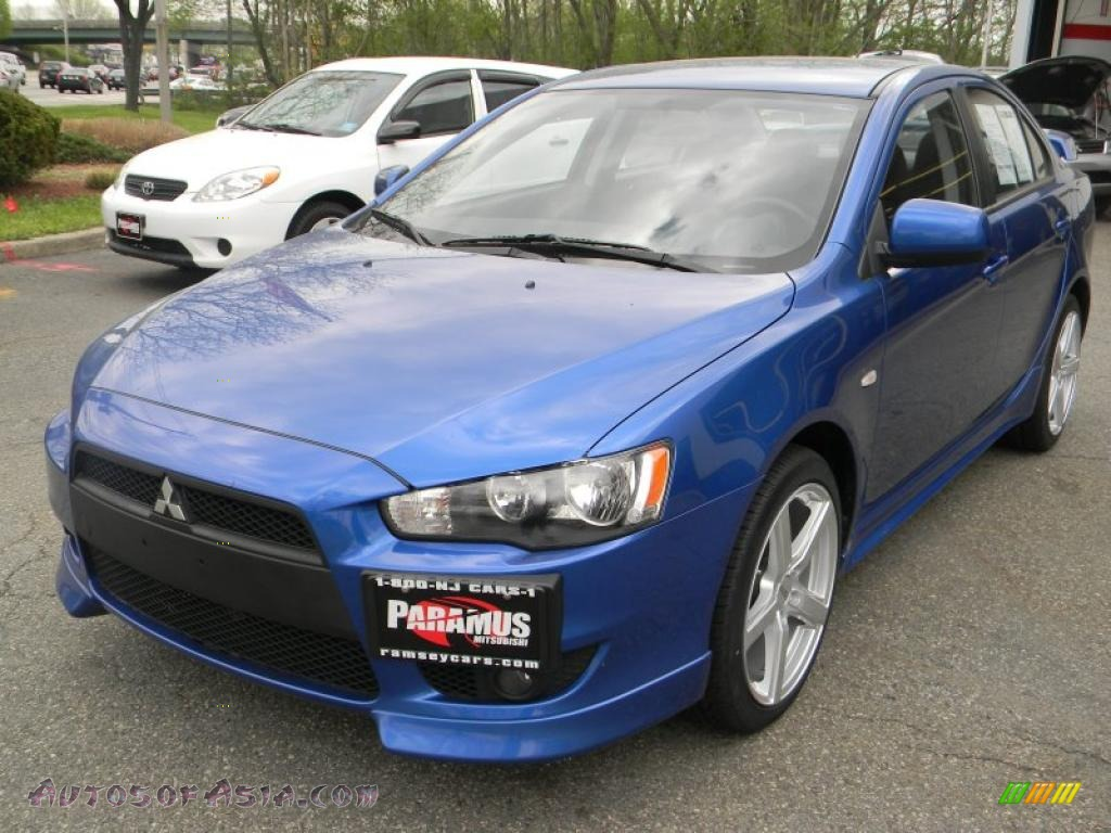 2009 mitsubishi lancer gts in octane blue pearl 012269 autos of asia japanese and korean. Black Bedroom Furniture Sets. Home Design Ideas