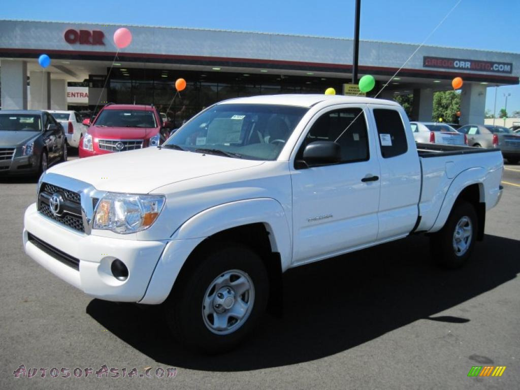 2011 toyota tacoma prerunner access cab in super white 004994 autos of asia japanese and. Black Bedroom Furniture Sets. Home Design Ideas