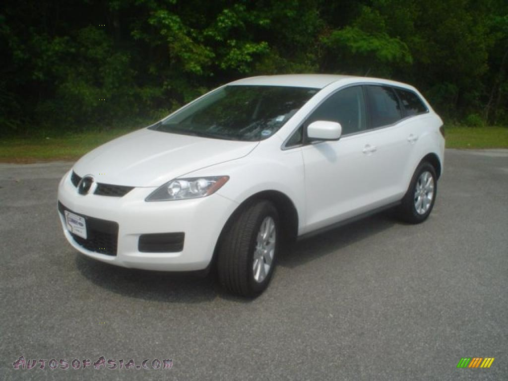 2008 mazda cx 7 touring in crystal white pearl mica 211339 autos of asia japanese and. Black Bedroom Furniture Sets. Home Design Ideas