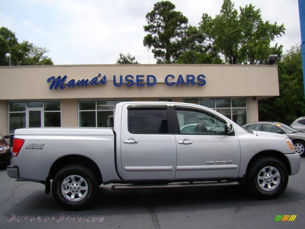 2005 Nissan Titan Le Crew Cab 4x4 In Radiant Silver