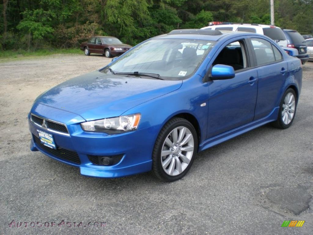 2009 mitsubishi lancer gts in octane blue pearl 021567 autos of asia japanese and korean. Black Bedroom Furniture Sets. Home Design Ideas