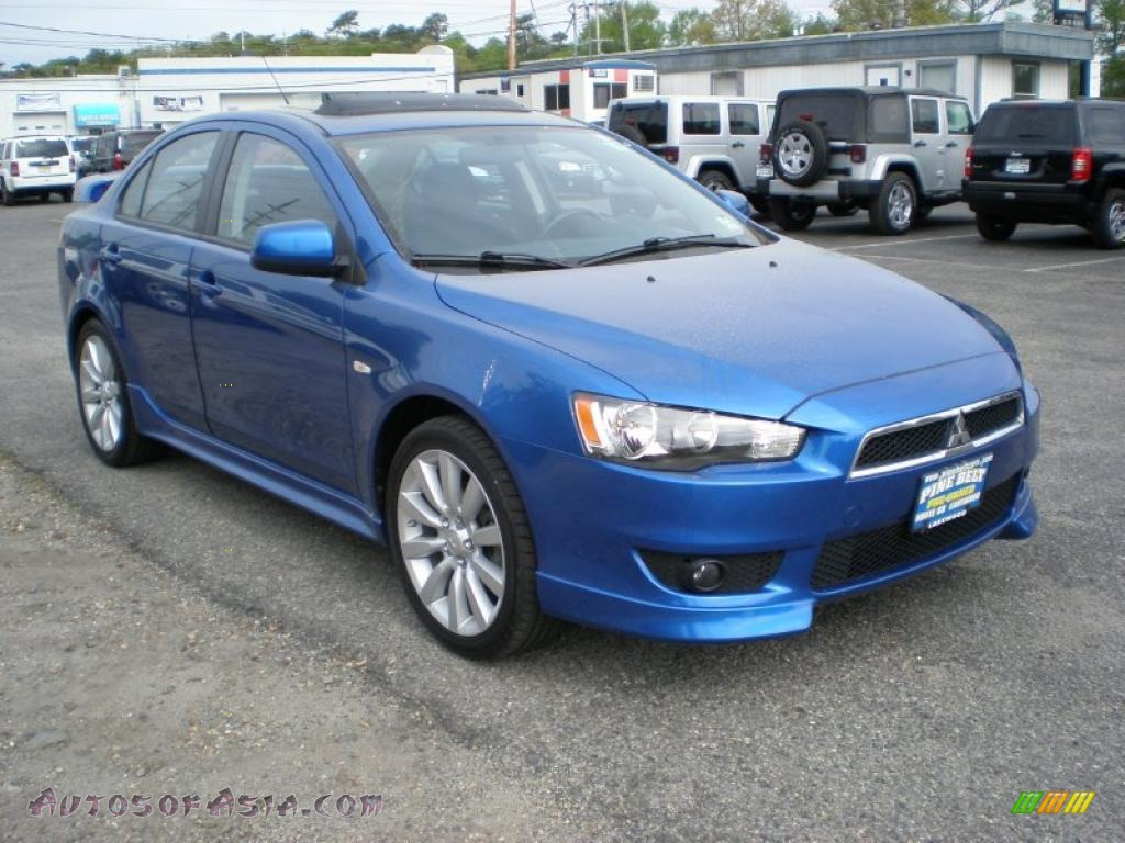 2009 mitsubishi lancer gts in octane blue pearl photo 3 021567 autos of asia japanese and. Black Bedroom Furniture Sets. Home Design Ideas