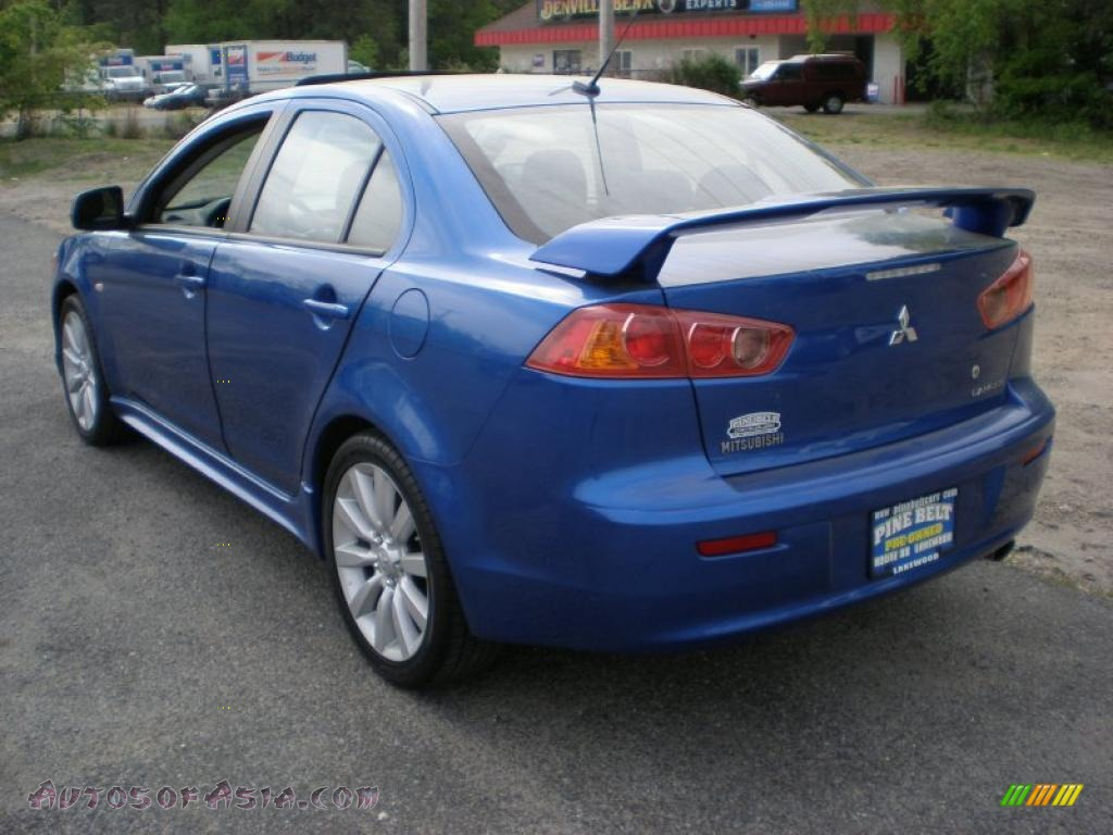 2009 mitsubishi lancer gts in octane blue pearl photo 7 021567 autos of asia japanese and. Black Bedroom Furniture Sets. Home Design Ideas