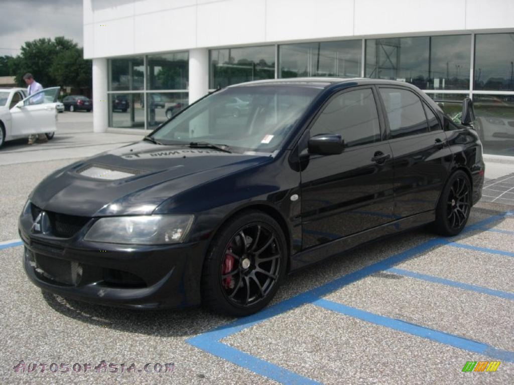 2003 mitsubishi lancer evolution viii in tarmac black 086663 autos of asia japanese and. Black Bedroom Furniture Sets. Home Design Ideas