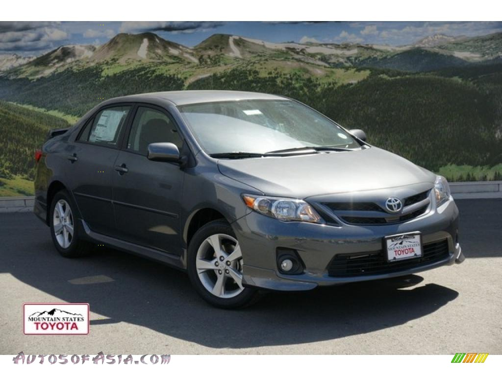 2011 toyota corolla s in magnetic gray metallic 586716 autos of asia japanese and korean