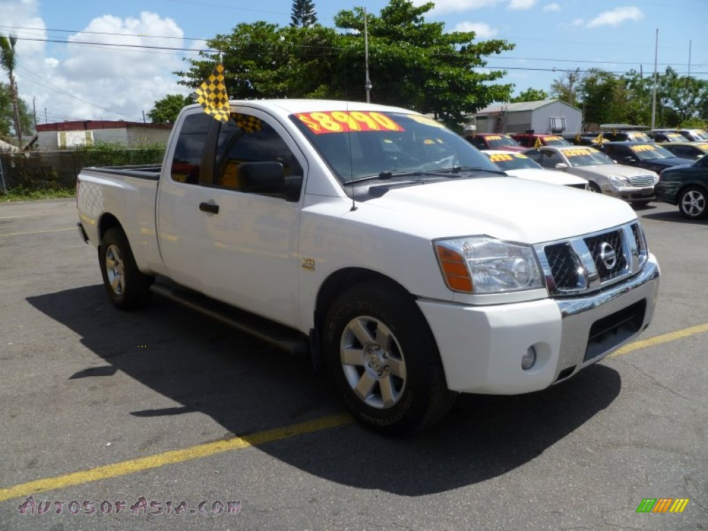 2004 nissan titan xe king cab in white 509775 autos of asia japanese and korean cars for. Black Bedroom Furniture Sets. Home Design Ideas