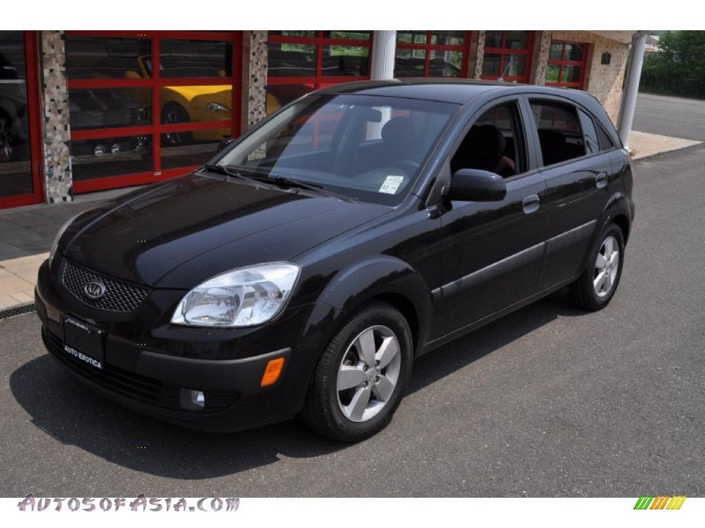 2007 Kia Rio Rio5 Sx Hatchback In Black 292868 Autos