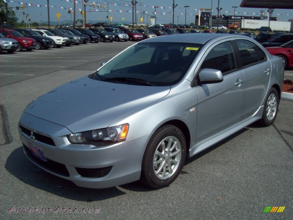 2011 Lancer ES   Apex Silver Metallic / Black Photo #1. Mitsubishi ...