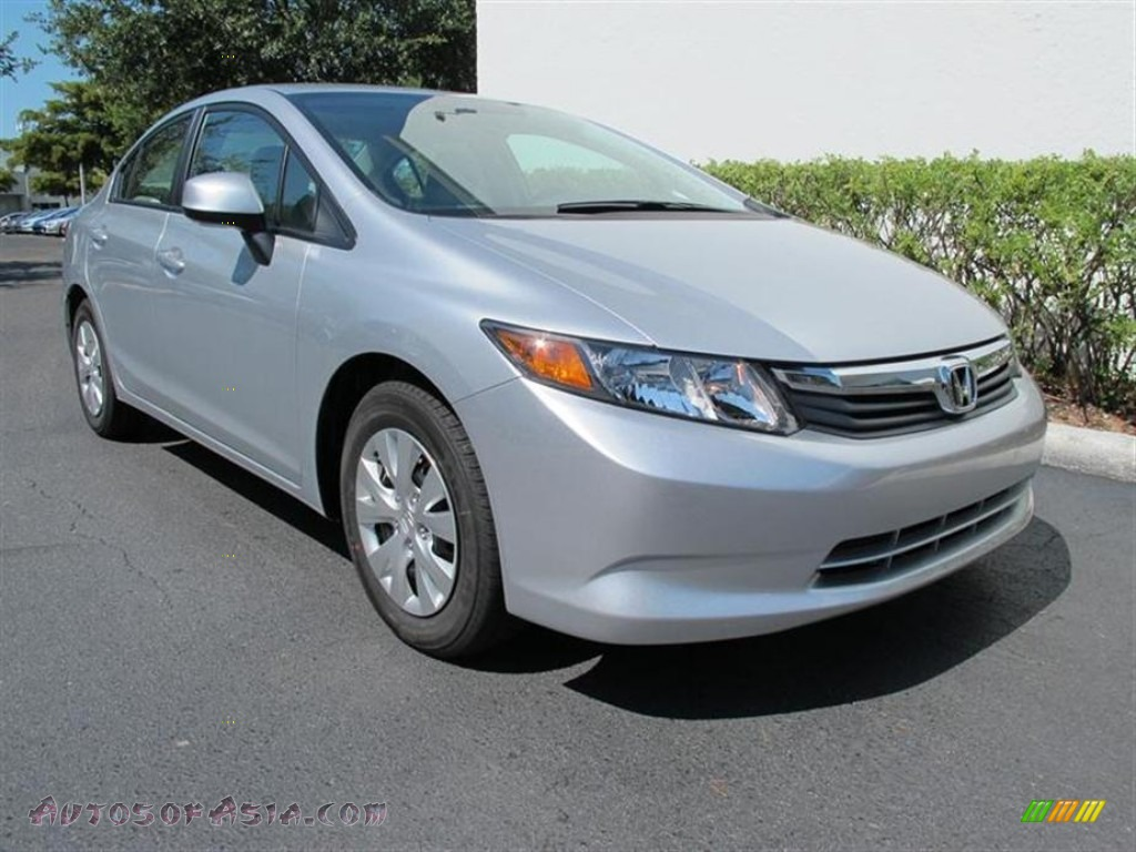2012 honda civic lx sedan in alabaster silver metallic 305672 autos of asia japanese and. Black Bedroom Furniture Sets. Home Design Ideas