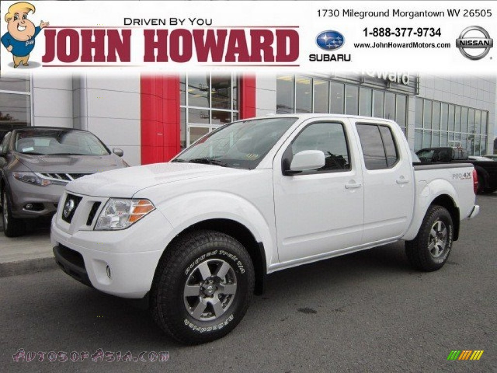 2011 nissan frontier pro 4x crew cab 4x4 in avalanche white 440939 autos of asia japanese. Black Bedroom Furniture Sets. Home Design Ideas