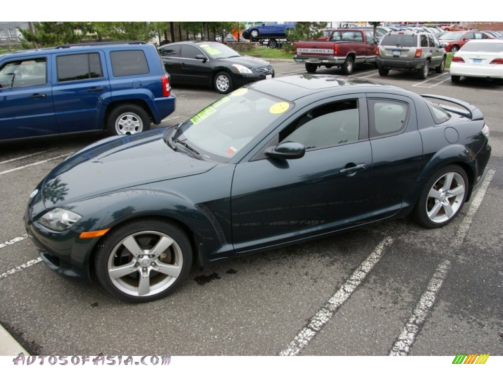 2004 mazda rx 8 sport in nordic green mica 118681 autos of asia japanese and korean cars. Black Bedroom Furniture Sets. Home Design Ideas
