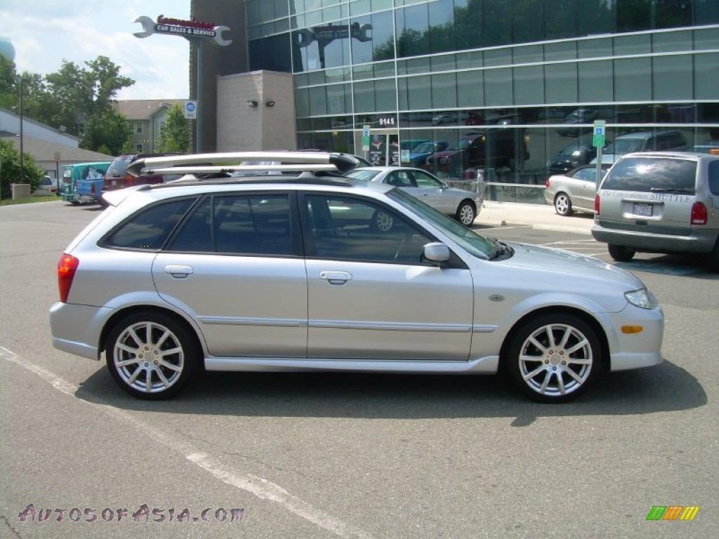 2002 mazda protege 5 wagon in sunlight silver metallic - 615427