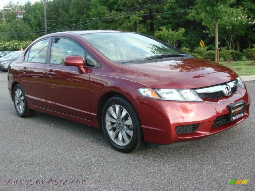 2009 honda civic ex l sedan in tango red pearl photo 7 353062 autos of asia japanese and. Black Bedroom Furniture Sets. Home Design Ideas