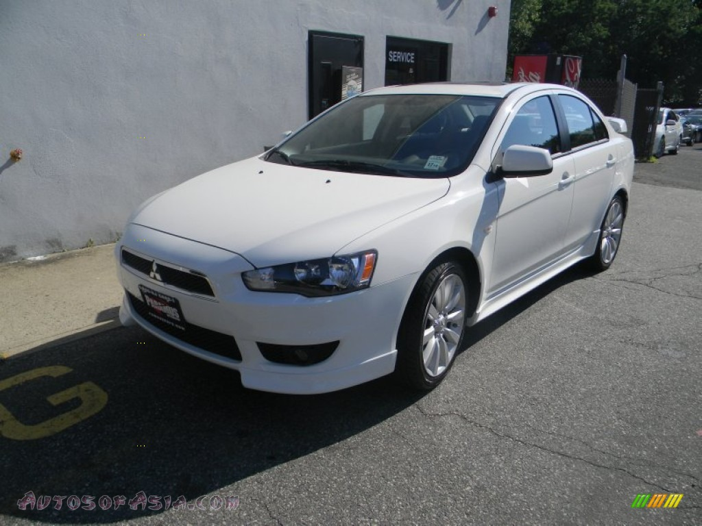 2010 mitsubishi lancer gts in wicked white metallic 008214 autos of asia japanese and. Black Bedroom Furniture Sets. Home Design Ideas