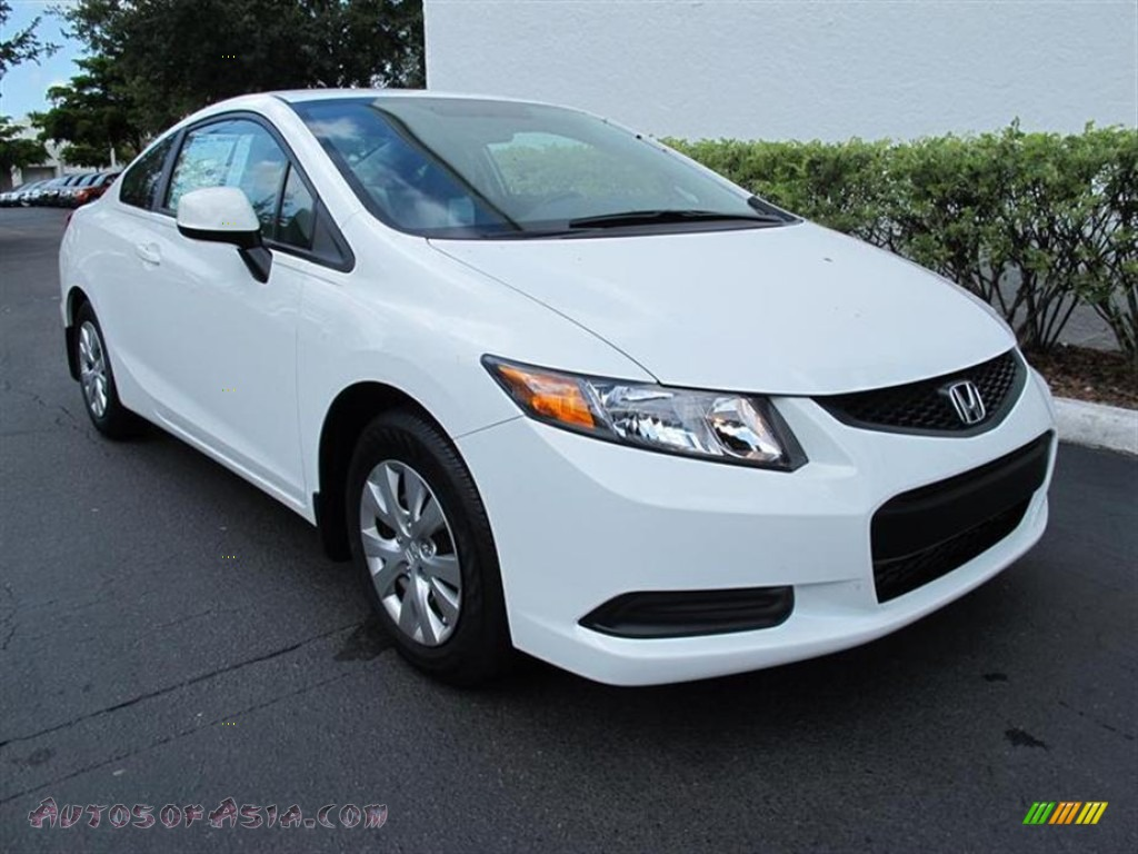 2012 honda civic lx coupe in taffeta white 504344 autos of asia japanese and korean cars. Black Bedroom Furniture Sets. Home Design Ideas