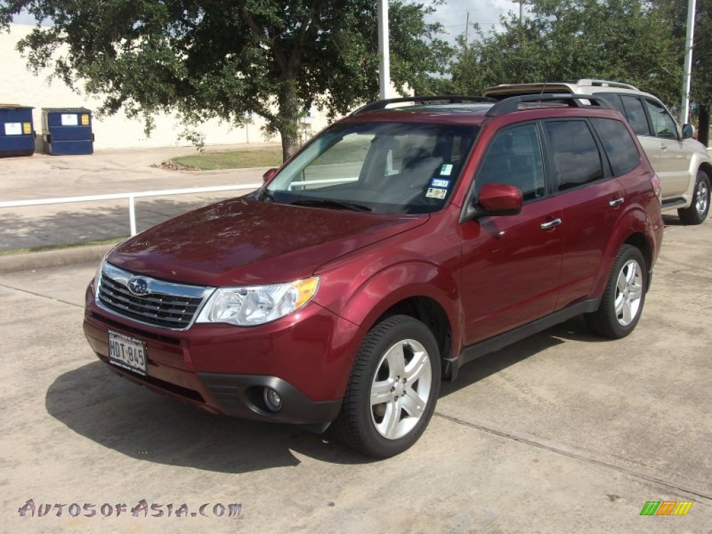 2009 subaru forester 2 5 x l l bean edition in camellia red pearl 704134 autos of asia. Black Bedroom Furniture Sets. Home Design Ideas