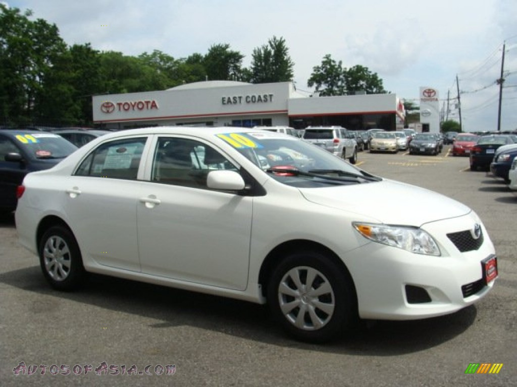 2010 toyota corolla le in super white 343845 autos of asia japanese and korean cars for. Black Bedroom Furniture Sets. Home Design Ideas