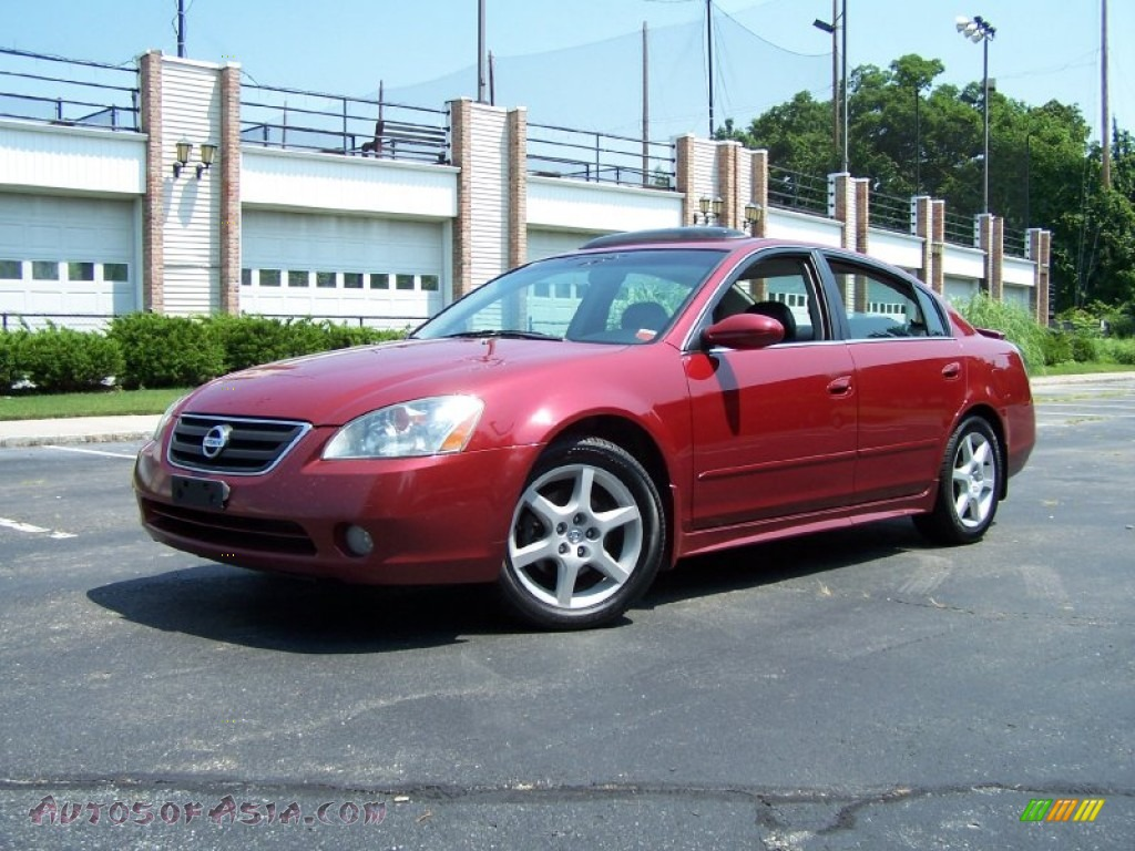 2003 Nissan Altima 3 5 Se In Sonoma Sunset Red 178701
