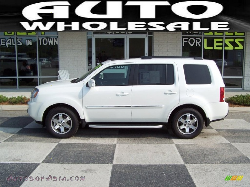 2011 Honda Pilot Touring In White Diamond Pearl 039596
