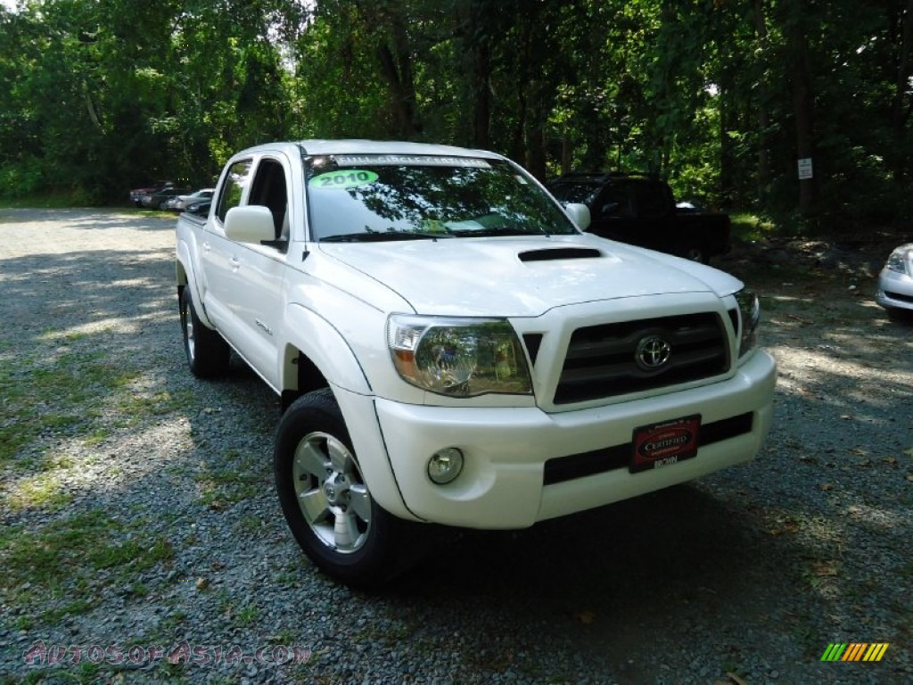 Brown Toyota Charlottesville >> 2010 Toyota Tacoma V6 SR5 TRD Sport Double Cab 4x4 in Super White - 747927 | Autos of Asia ...