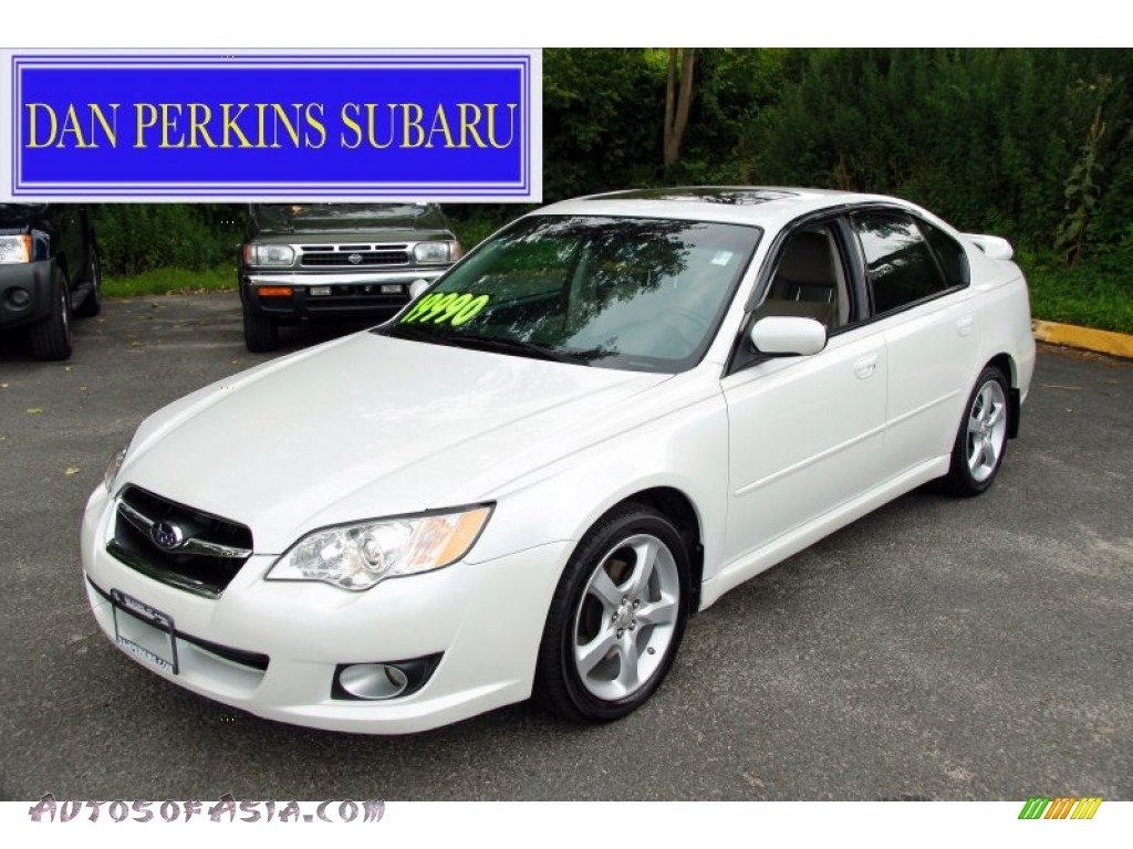 2008 subaru legacy 2.5i limited sedan in satin white pearl